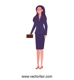 elegant business woman avatar character