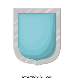 shield with a blue color