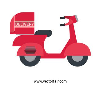 delivery motorbike with a red color