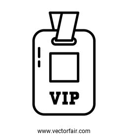 Vip id card icon, line style