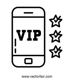 cellphone with vip design, line style