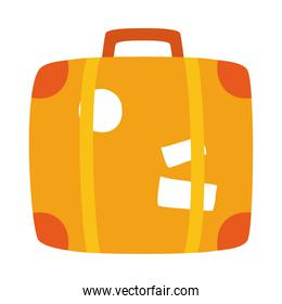 travel suitcase hand drawn icon, colorful design