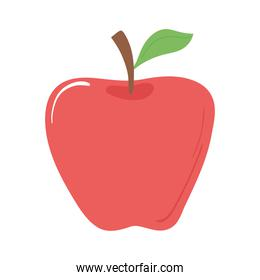 apple fruit fresh appetizing delicious food, icon flat on white background