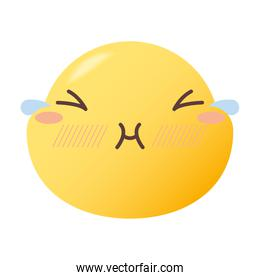 emoji face with tears vector design