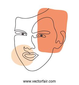 colorful abstract face icon image
