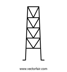electric tower icon, line style