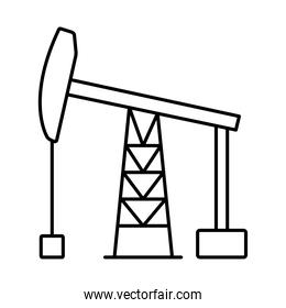 drilling rig icon, line style