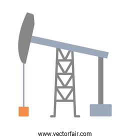 drilling rig icon, flat style