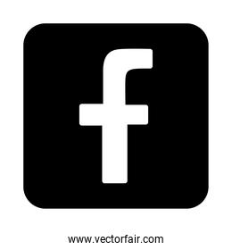 Facebook logo symbol icon,silhouette design