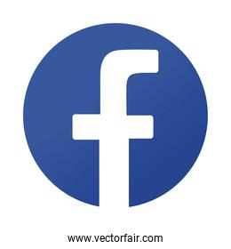 Facebook logo symbol icon,colorful design