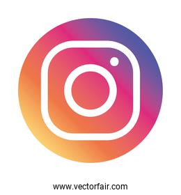Instagram logo symbol icon, colorful design
