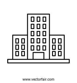 hotel building icon, line style