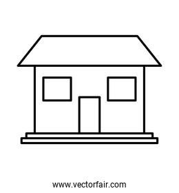 house shape icon, line style