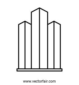 city towers icon, line style