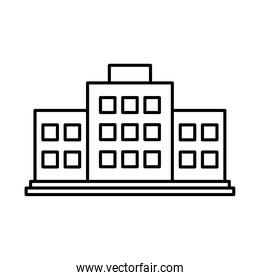 hospital building icon, line style
