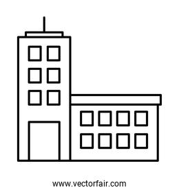 icon of office building, line style
