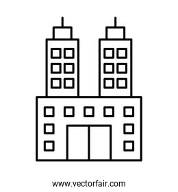 icon of hotel building, line style
