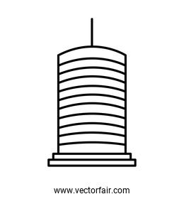icon of modern business building, line style