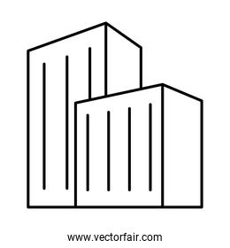 icon of city building, line style