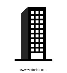 city building icon, silhouette style