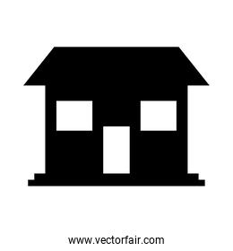 house shape icon, silhouette style
