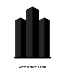 city towers icon, silhouette style