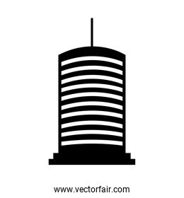 icon of modern business building, silhouette style