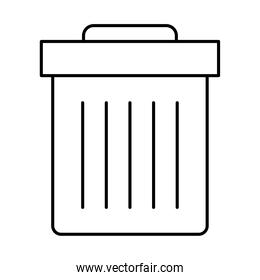 trash can icon, line style