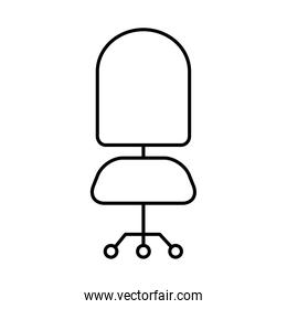 desk chair icon, line style