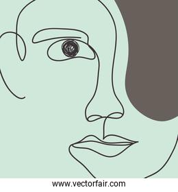 modern abstract male face, colorful design