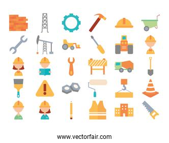 tools and construction collection, flat style