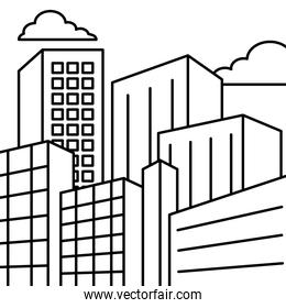 design of city buildings, line style