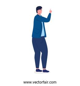 elegant businessman worker indexing avatar character