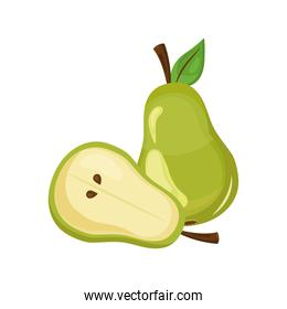 pear delicious fresh fruit nature icon