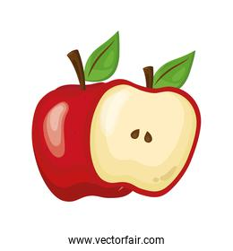 red apple delicious fresh fruit nature icon