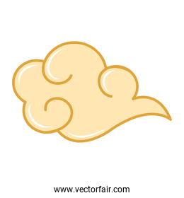 chinese cloud form floating isolated icon
