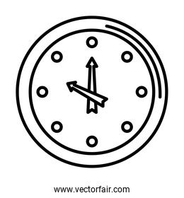 time clock watch analog line style icon