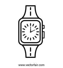 time clock wristwatch line style icon