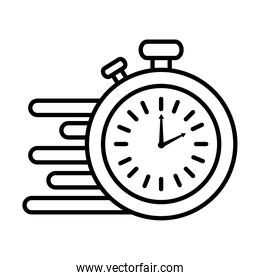 time clock watch analog chronometer line style icon