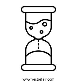 hourglass time counter line style icon