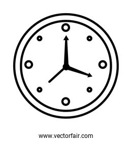 time clock watch analog style line icon