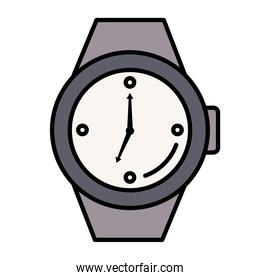 time clock wristwatch analog style line and fill icon