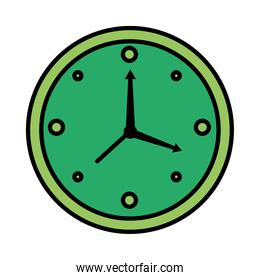 time clock watch analog style line and fill icon