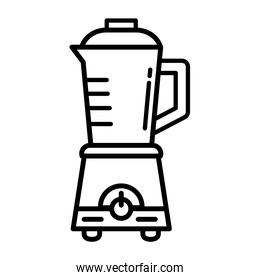 kitchen blender appliance line style icon