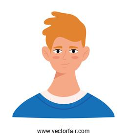 blond young man avatar character icon