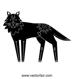 wolf animal contemporary silhouette nature icon