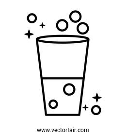 water glass cup line style icon