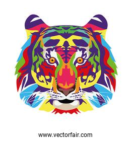tiger wild life technicolor icon