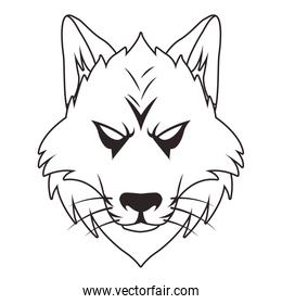 wolf animal wild head character icon
