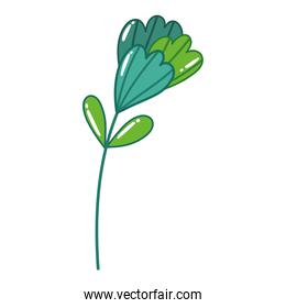 flower decoration nature in cartoon style design